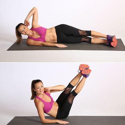 động tác chữ V nghiêng giúp giảm mỡ vùng bụng hiệu quả nhất