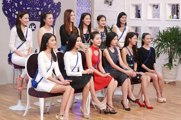 Lan Khuê khi tham gia cuộc thi Hoa Khôi Áo dài Việt Nam 2014