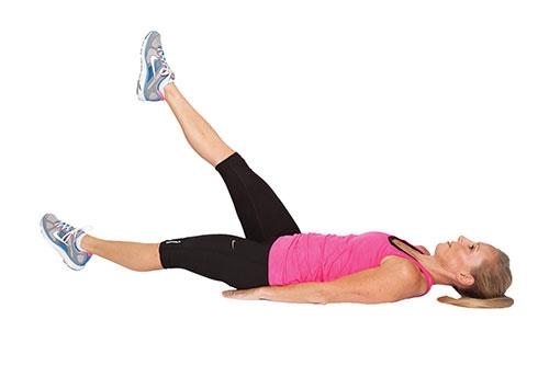 nâng từng chân hỗ trợ giảm mỡ vùng cơ bụng dưới