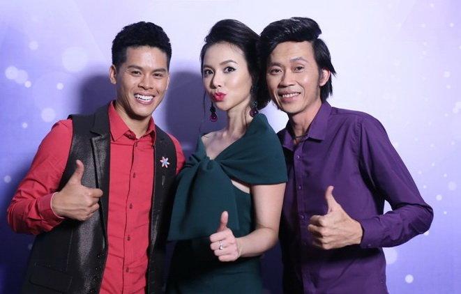 Hai giám khảo John Huy Trần, Hoài Linh và MC Ngọc Diệp