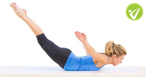 cách giảm béo vùng bụng hiệu quả nhất tiếp theo là động tác swan dive