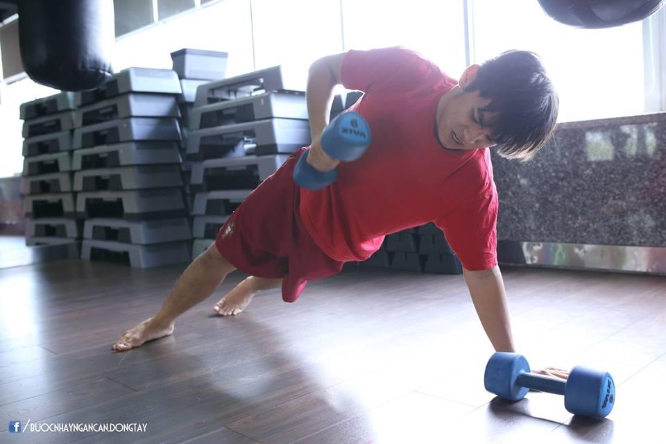 Ngọc Sơn chăm chỉ tập luyện